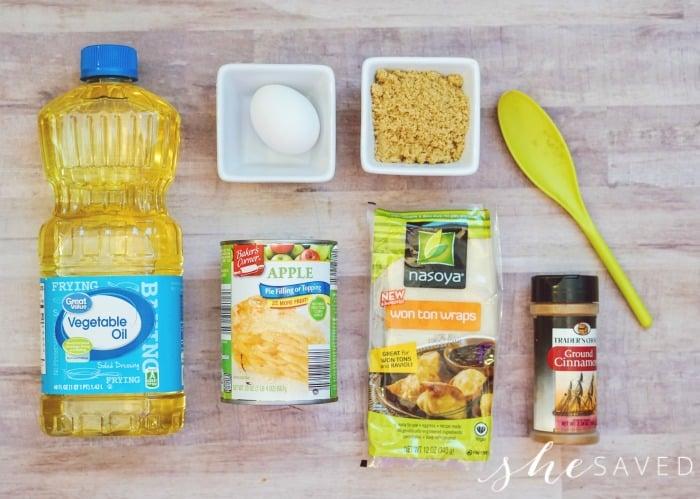 Apple Wonton Ingredients
