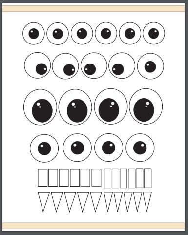 Print our free eyeball template printable