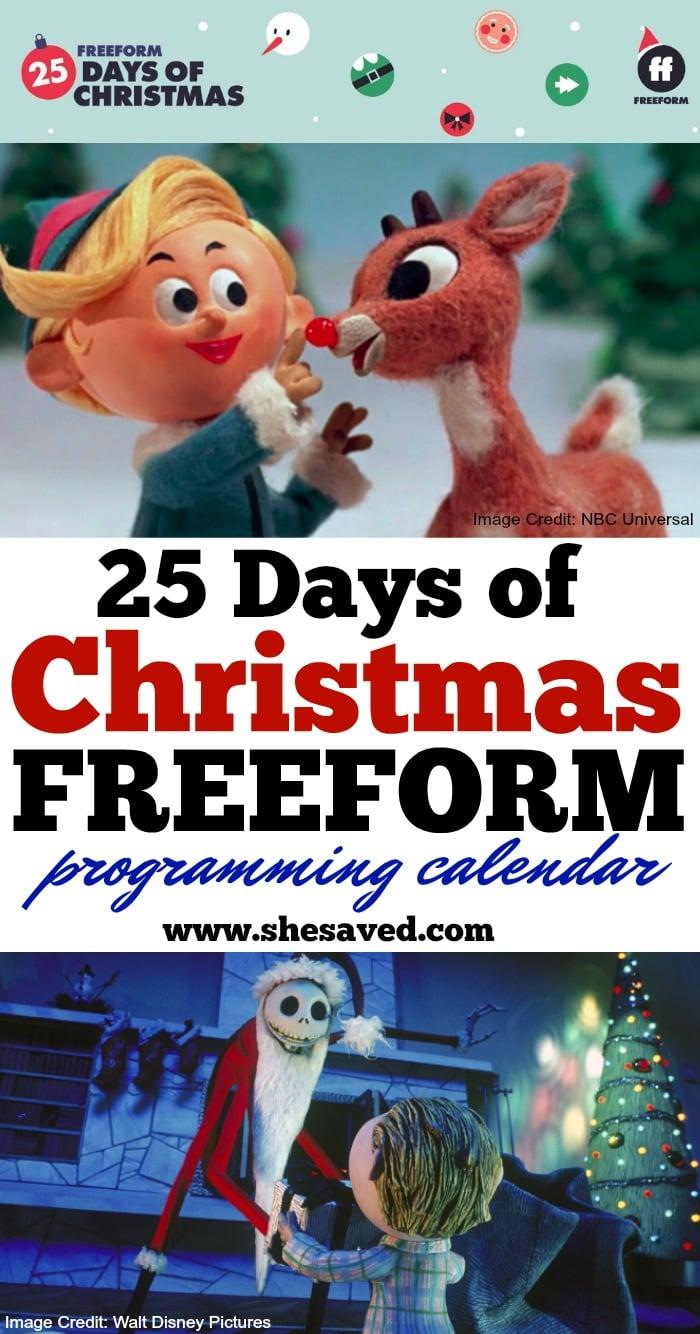 25 Days of Christmas Movie Calendar