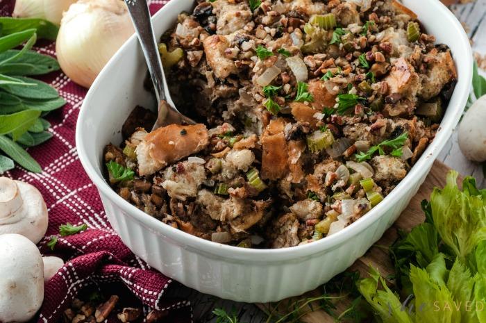 Mushroom Pecan Stuffing
