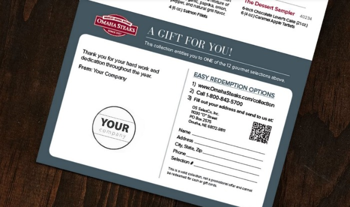 Omaha Steaks Custom Certificates