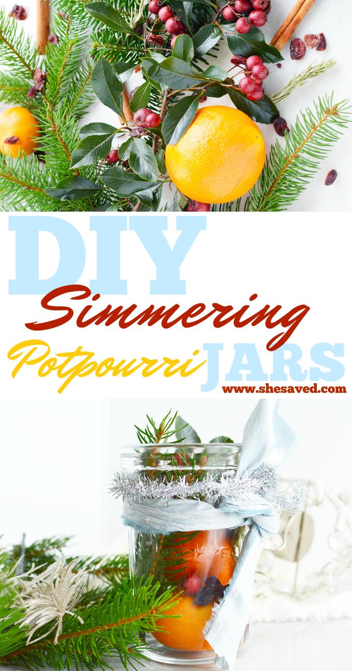 DIY Homemade Simmering Potpourri Jar