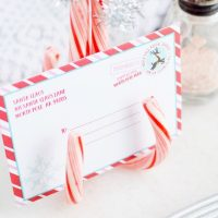 DIY Candy Cane Place Card Holders