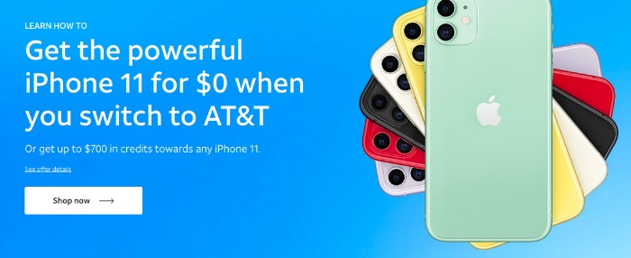 free iphone 11 at&t