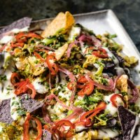 Brussels Sprout Nachos Recipe from BOBBY AT HOME by Bobby Flay Book + Giveaway