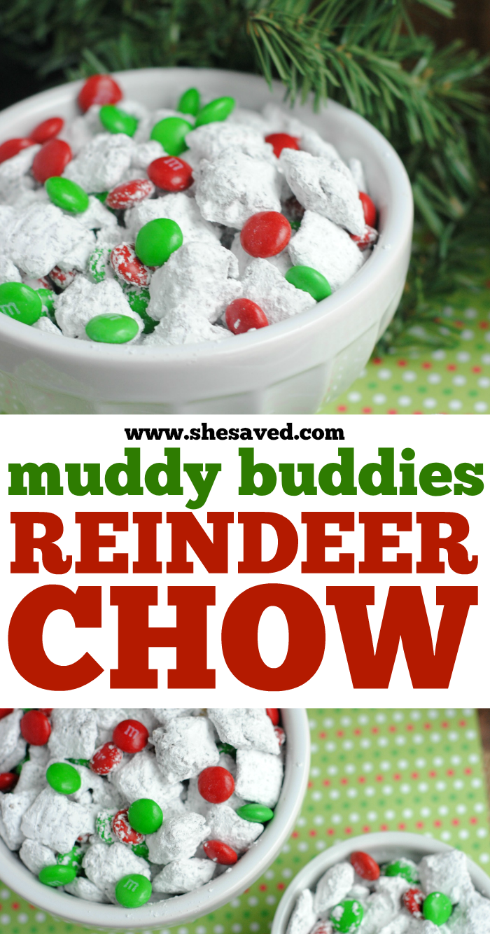 Muddy Buddies Reindeer Chow Recipe