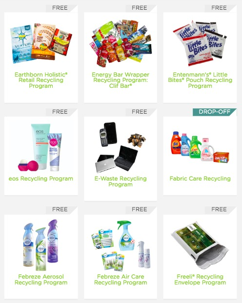 FREE Brand Recycling Programs