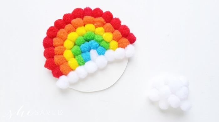 Finished Pom Pom Rainbow