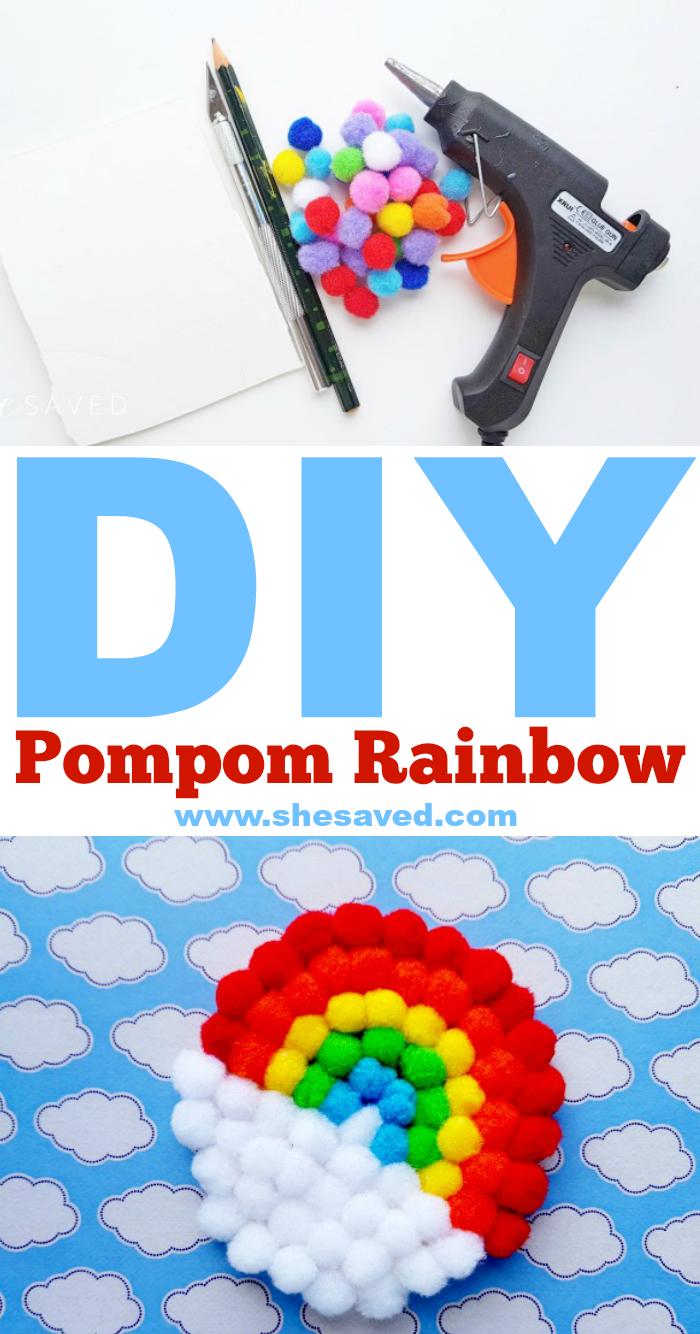 Pom Pom Rainbow Craft