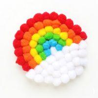 DIY Pompom Rainbow Craft
