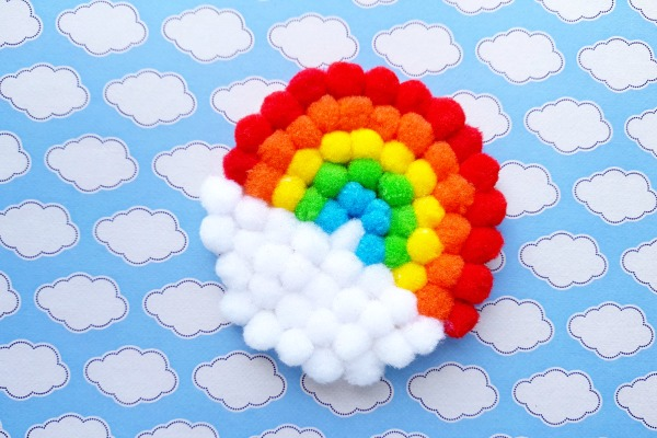 Rainbow PomPom Craft