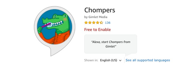 Chompers Alexa App