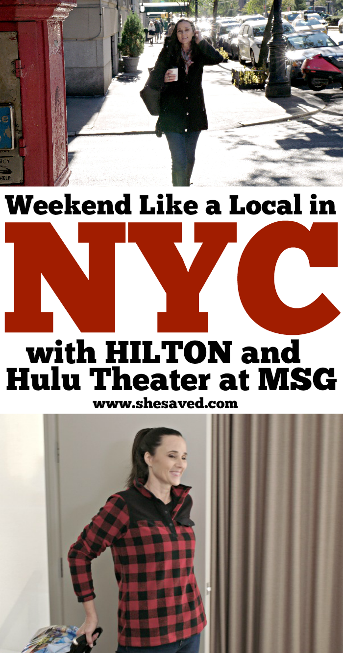 Weekend Like a Local in NYC promotion with Hulu Theater at Madison Square Garden and Hilton Hotels