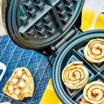 Making Cinnamon Rolls Waffle Iron