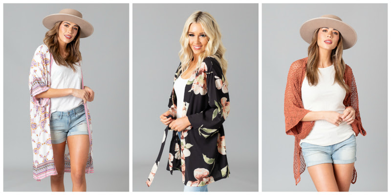 KIMONOS!! Is it an accessory? Is it a wardrobe staple? Our answer? YES & YES! Kimonos are so versatile. They can cover you up at the beach or pool, can be worn with shorts and a tee, or used as a light cover-up over your favorite little black dress. Kimonos can hang loose and open, can be knotted at the waisted or even belted to give you different looks. Plus, with their over-sized perfection, they look good on every body type. This week for Fashion Friday we have kimonos and ponchos on sale for 40% off the lowest marked price and FREE SHIPPING with code KIMOYES. We have some starting as low as $8.97 SHIPPED! These do incredibly well for affiliates and when we feature them at this amazing deal they move fast!