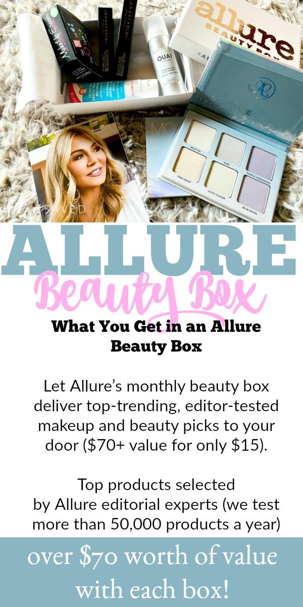 Allure Beauty Box contents