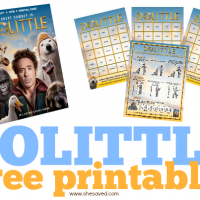 DOLITTLE Printables and Activity Sheets