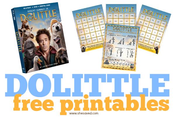 DOLITTLE free printables