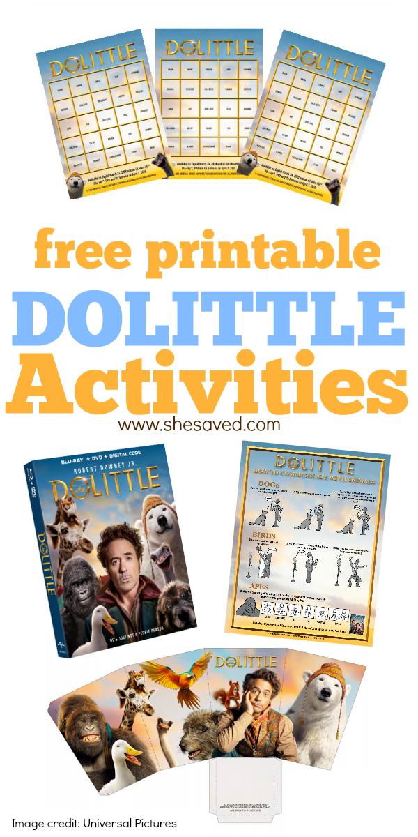 DOLITTLE printables for kids