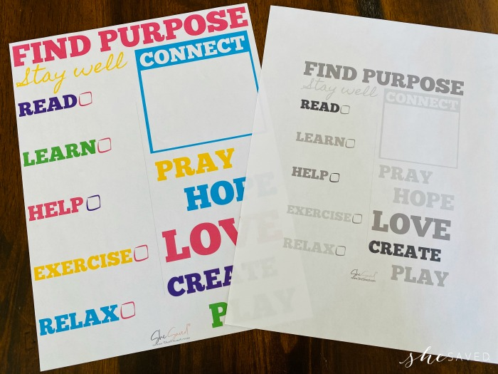 Find Purpose Free Printable