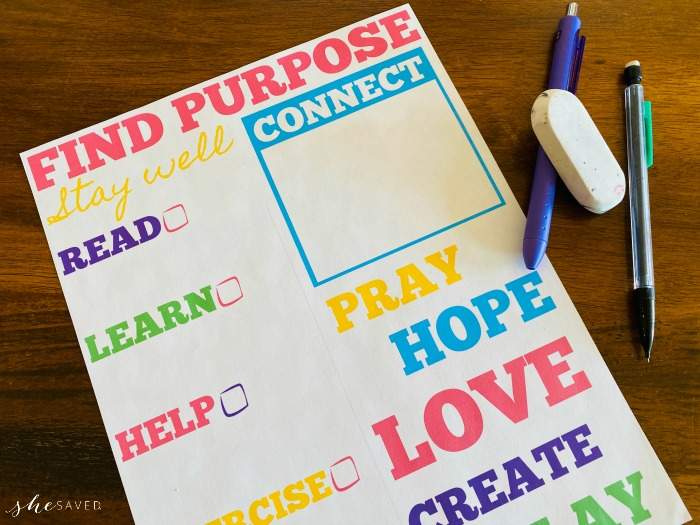 FREE Find Purpose printable