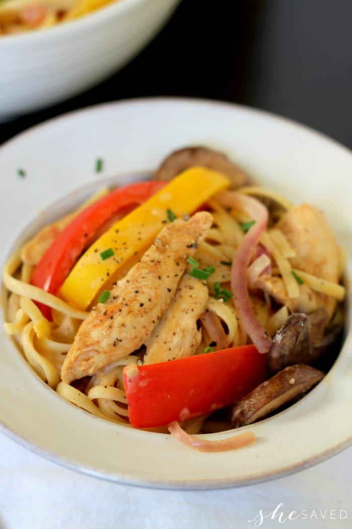 Lite Cajun Chicken Pasta
