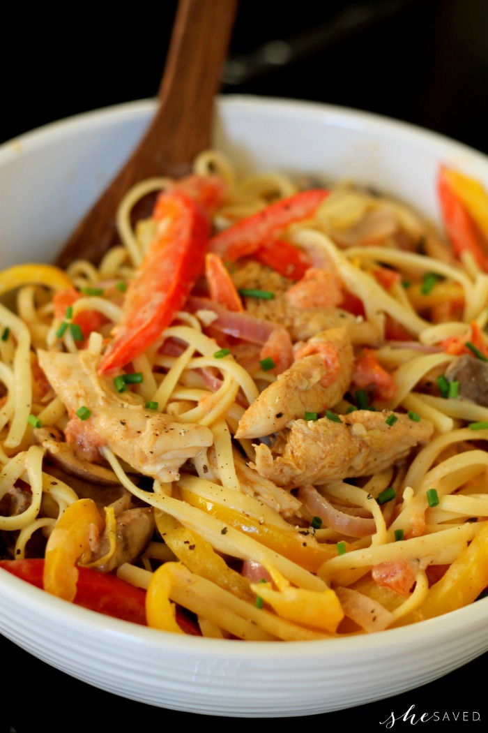 Lite Cajun Chicken Pasta Recipe