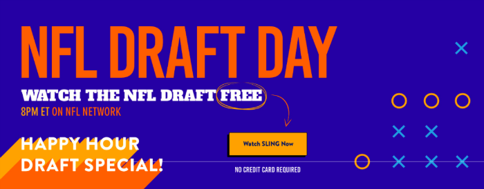 NFL draft on Sling