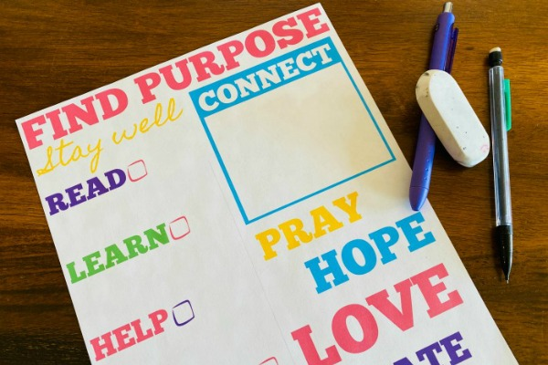Stay at Home Printable for Purpose