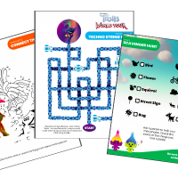 Trolls World Tour FREE Activity Sheets and Printables