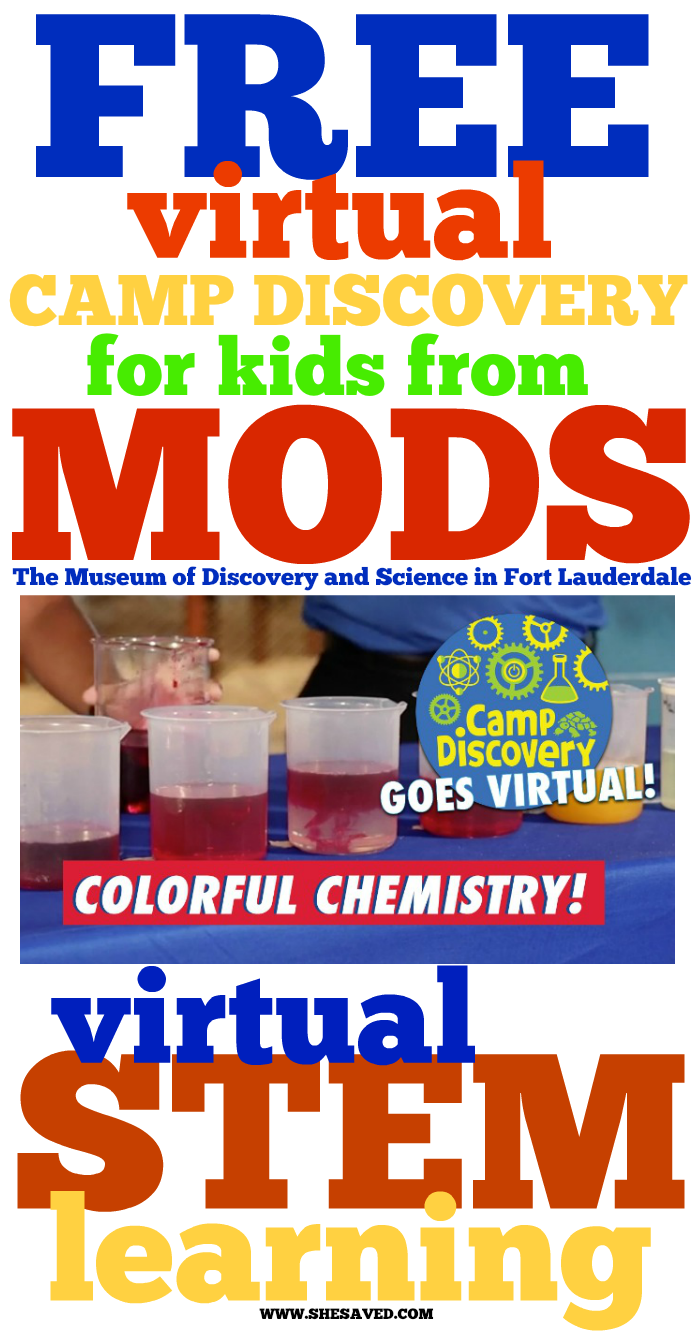 FREE Virtual Camp Discovery online classes and STEM learning from MODS