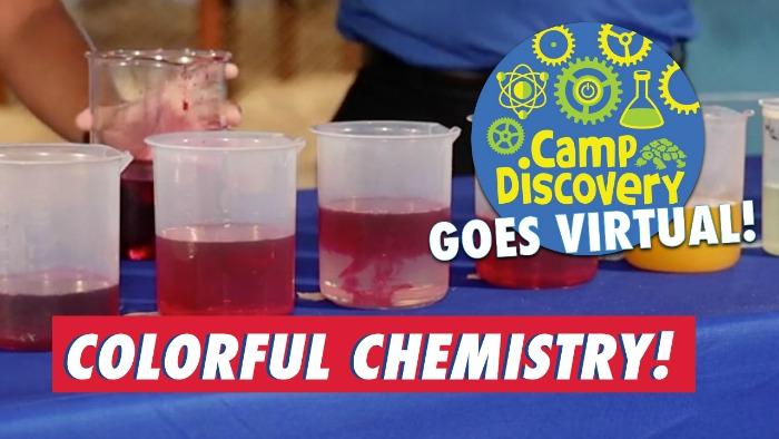 colorful chemistry virtual STEM lesson