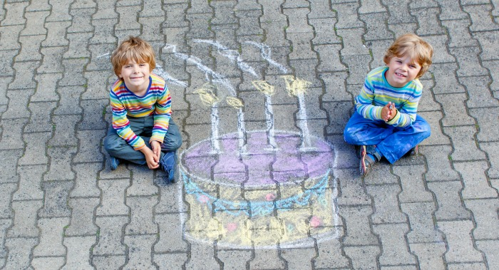 Birthday Cake Wishes with Chalk