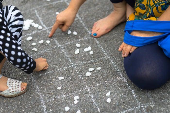 Mancala Board with Chalk
