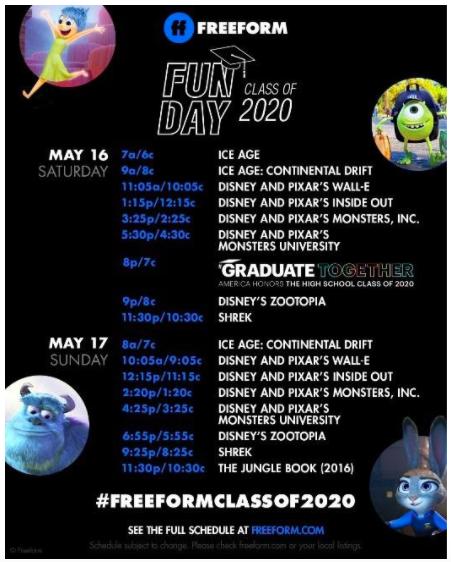 Freeform Fun Day for Graduates 2020