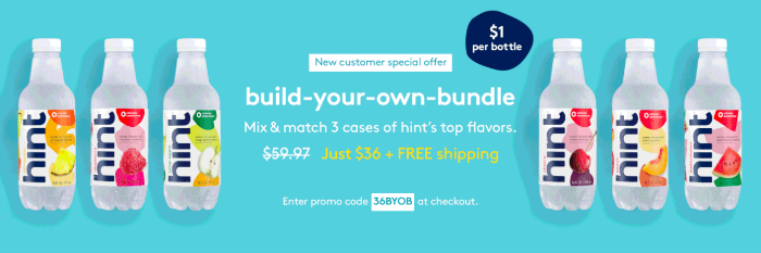 Hint Water Deal with Cash Back