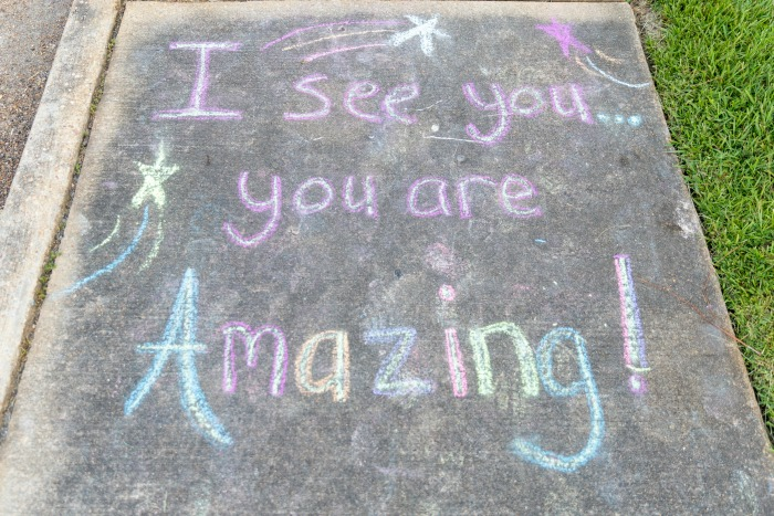 Uplifting Messages in Chalk