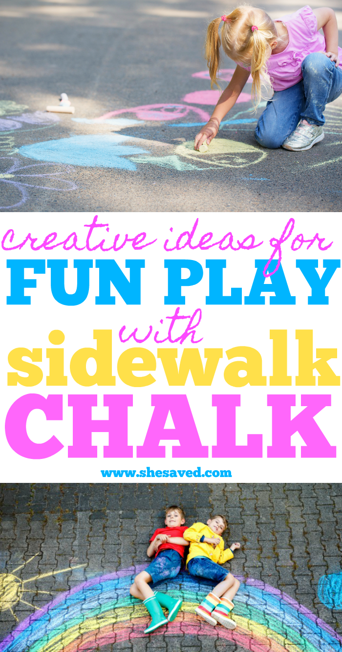 Sidewalk Chalk Ideas and fun things you can do to keep kids entertained!