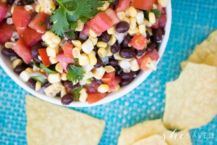 How to make sweet corn and black bean dip