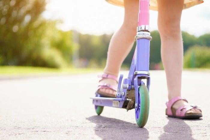 Sidewalk Chalk Scooter Course