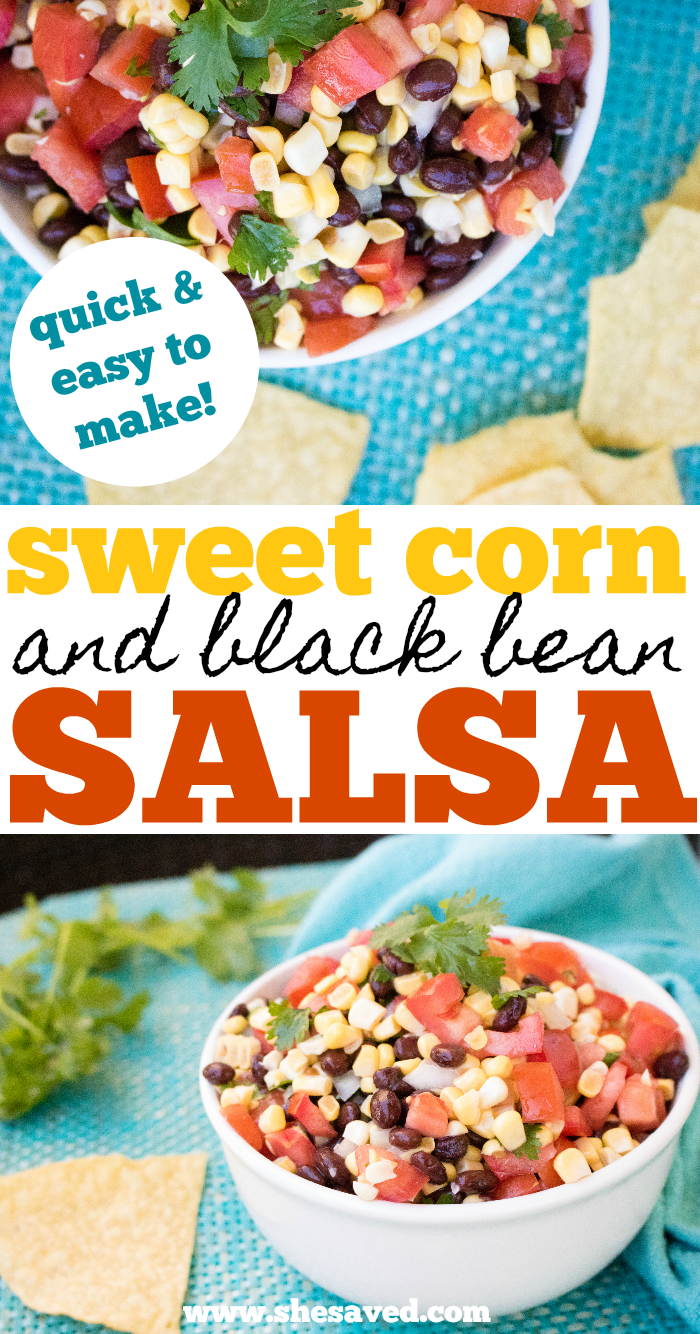How to make sweet corn salsa with black beans