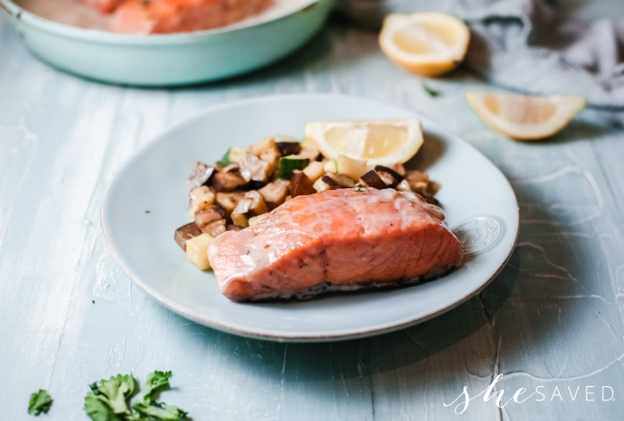 Creamy Pan Cooked Salmon