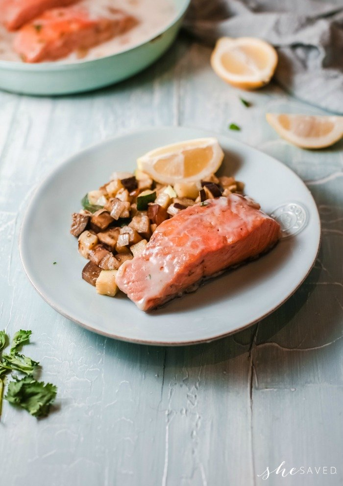 Creamy Salmon and Veggies recipe