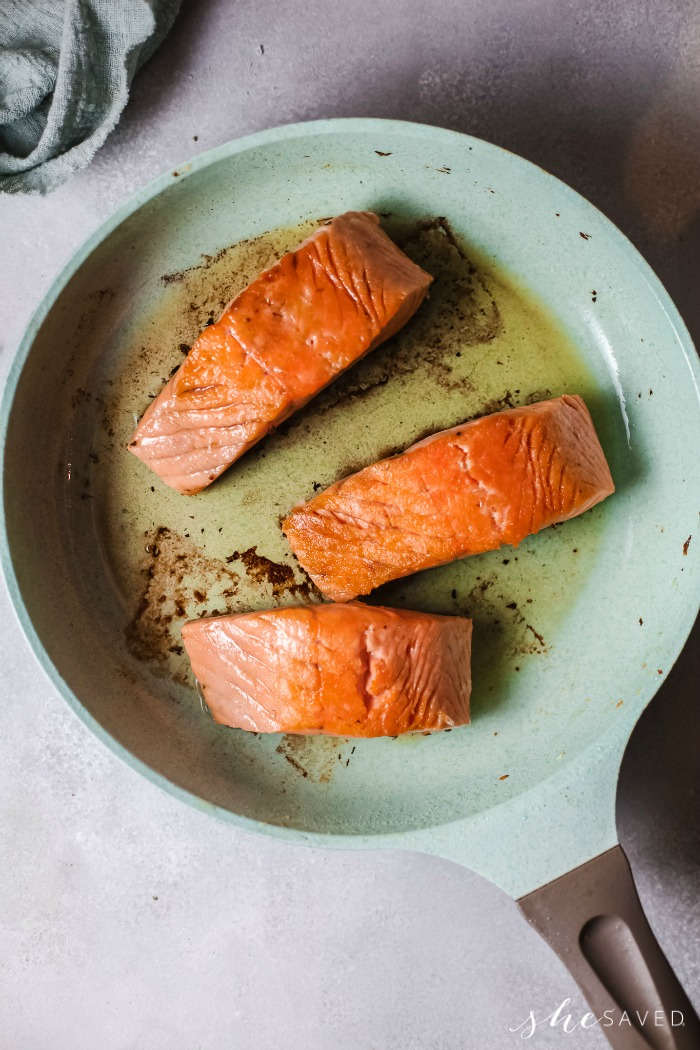 Pan Searing Salmon
