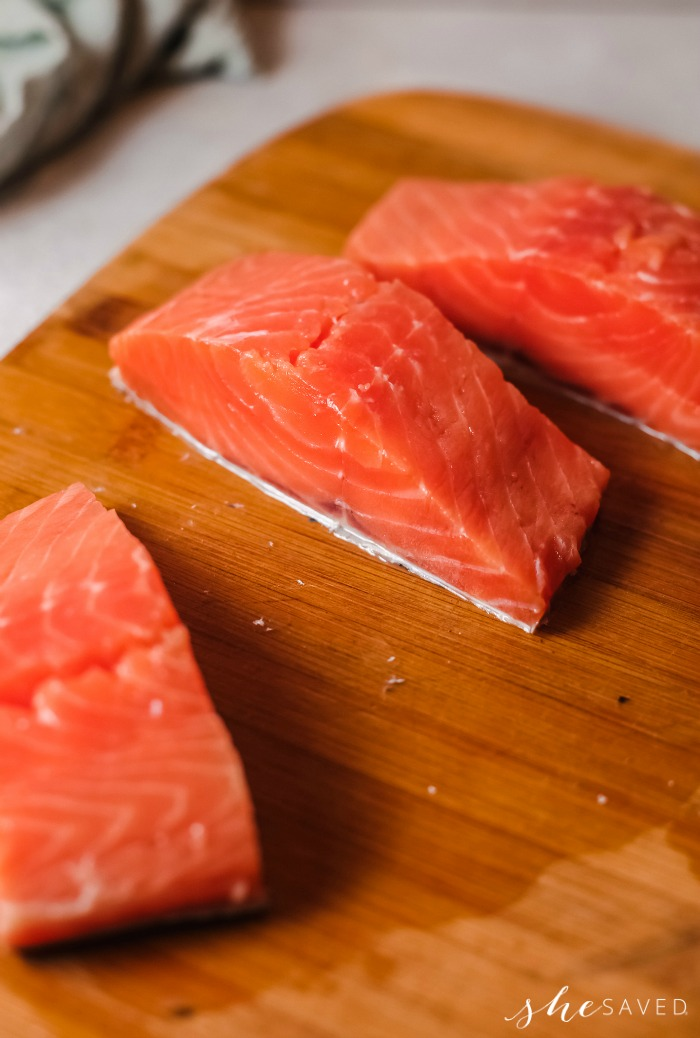 Salmon Strips for Pan Searing