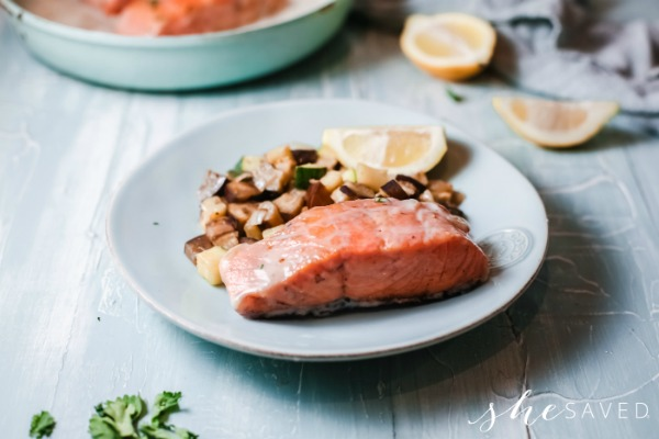 Sauteed Salmon with Vegetables