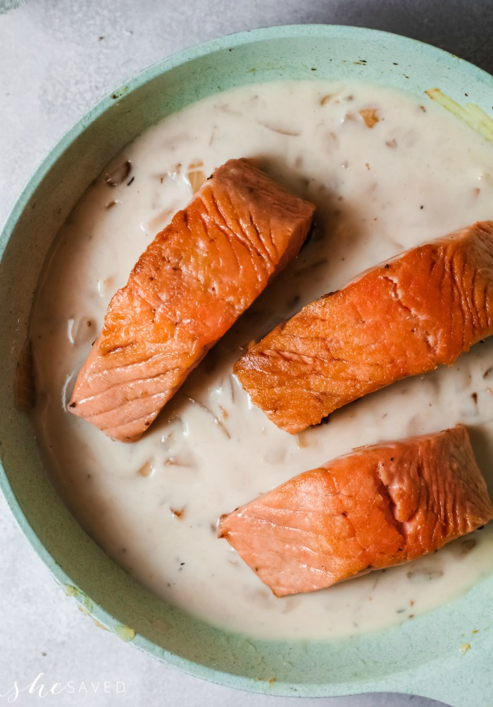 creamy salmon saute recipe