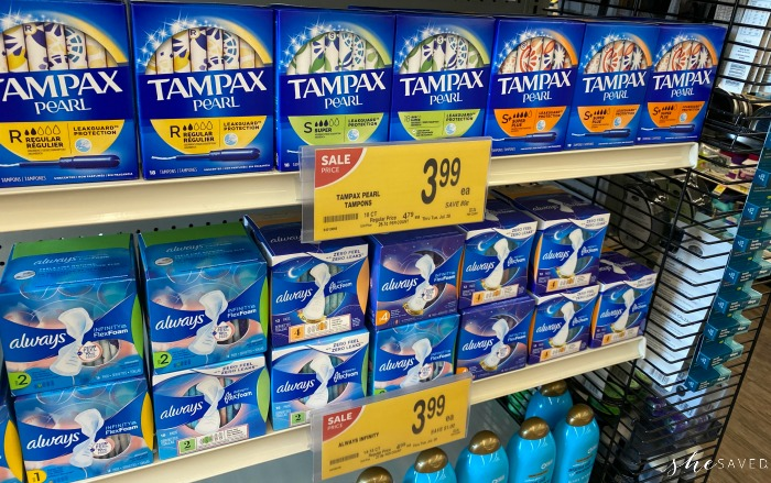 Albertsons Tampax Sale