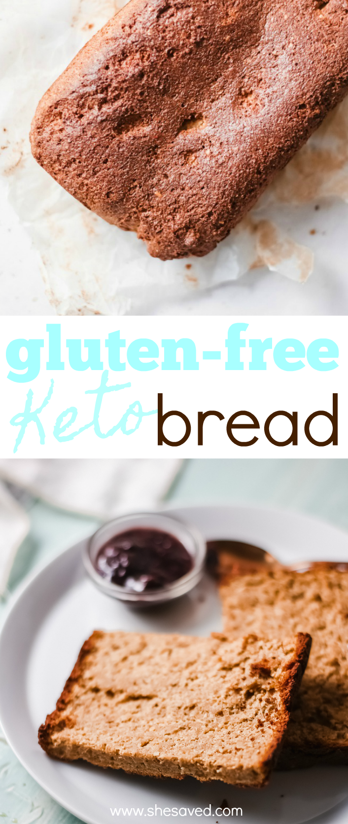 This homeade gluten free keto bread recipe makes a wonderful sandwich loaf and is also great for breakfast toast.