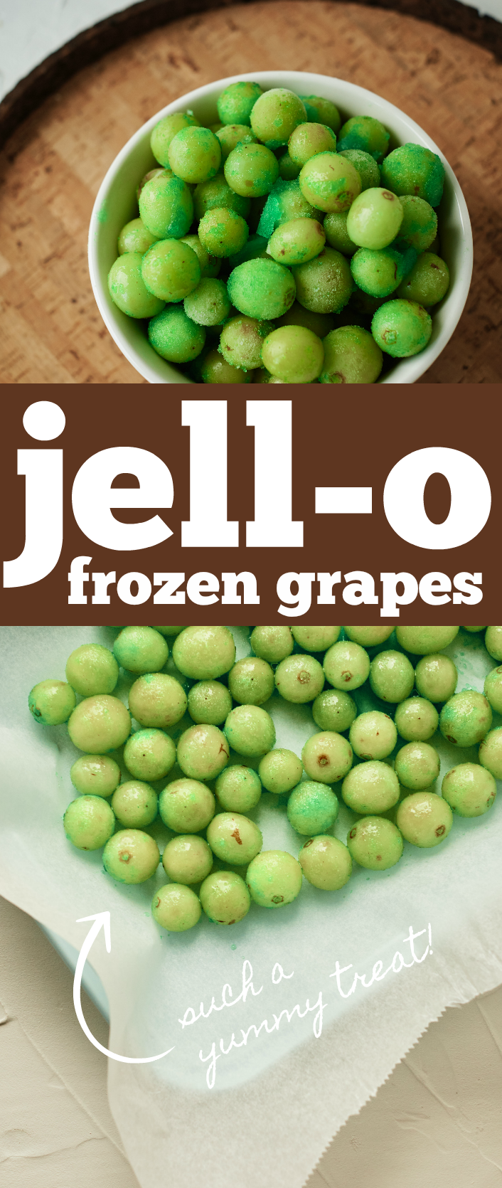 How to make jello frozen grapes for a delicious healthy snack treat option!